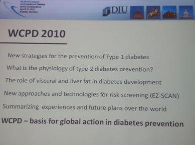 EZSCAN presented as the new technology for diabetes risk screening at the 6th WCPD 2010